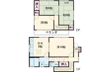 加納戸建貸家 1-2階 4LDK 賃貸一戸建て