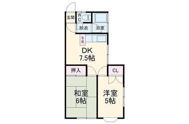 横須賀 徒歩17分 1階 2DK 賃貸アパート