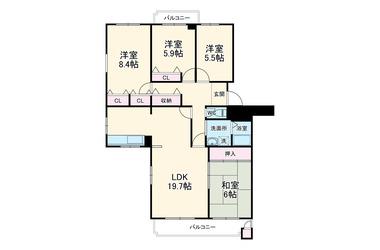 東船橋ガーデニア 3階 4LDK 賃貸マンション