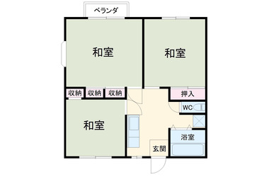 佐原 徒歩29分 1階 3DK 賃貸アパート