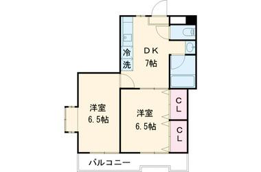 喜多見 徒歩15分 2階 2DK 賃貸マンション