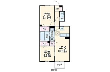 Flare Hills 1階 2LDK 賃貸アパート