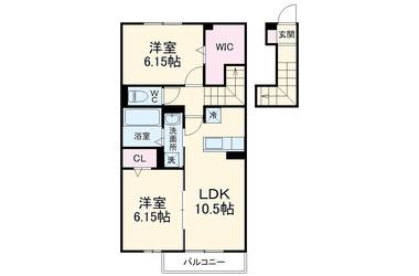 Flare Hills 2階 2LDK 賃貸アパート
