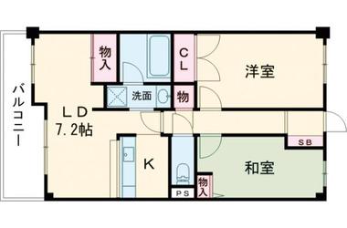 清瀬 徒歩3分 8階 2LDK 賃貸マンション