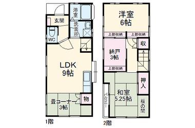 さとこハウス 1-2階 2LDK 賃貸一戸建て