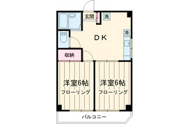 オリーブハウス 2階 2R 賃貸マンション