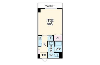 横須賀中央 徒歩8分 4階 1R 賃貸マンション