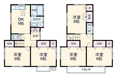 大原貸家 1-2階 5DK 賃貸一戸建て