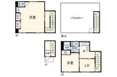 大滝町小貫ビル 2階 2LDK 賃貸マンション
