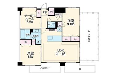 パレステージ山手石川町 4階 2SLDK 賃貸マンション