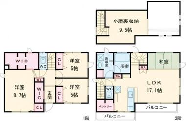 祖師ヶ谷大蔵 徒歩14分 1-2階 3LDK 賃貸一戸建て