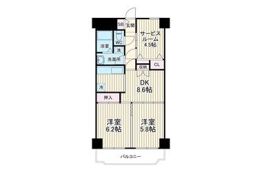 和田町 徒歩1分 7階 2SDK 賃貸マンション