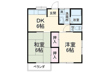 ブルークレール 2階 2DK 賃貸アパート