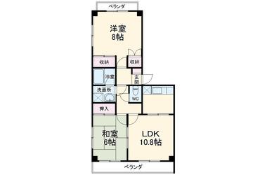 清瀬 徒歩3分 3階 2LDK 賃貸マンション