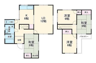 武5丁目貸家 1-2階 4LDK 賃貸一戸建て