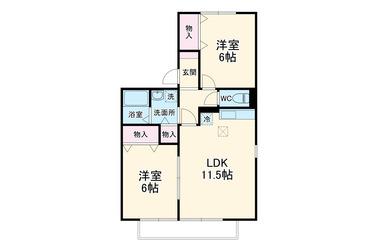 おゆみ野ハイツ 2階 2LDK 賃貸アパート