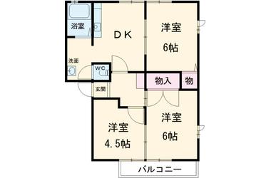 エリエスHARA D 2階 3R 賃貸アパート