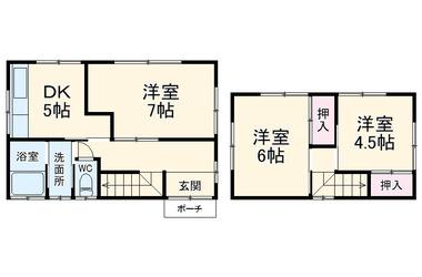 馬立戸建 1-2階 3DK 賃貸一戸建て