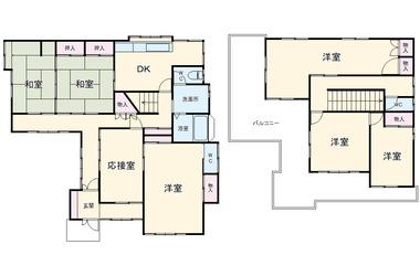 髙橋邸 1-2階 7DK 賃貸一戸建て