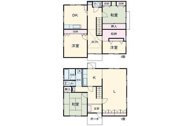 菅仙谷戸建て 1-2階 5SLDK 賃貸一戸建て