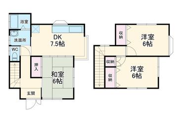 西逸見町3丁目戸建 1-2階 3DK 賃貸一戸建て