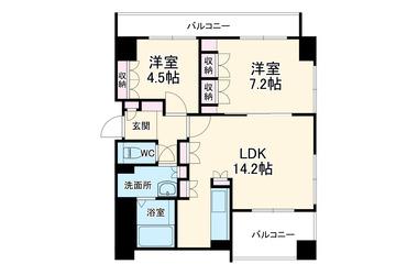 リベルテデュオ南瀬谷 3階 2LDK 賃貸マンション