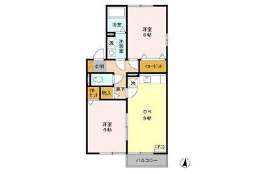 パーク・レジデンス 2階 2DK 賃貸アパート
