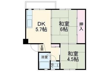 浦賀共同住宅10号棟 3階 2DK 賃貸マンション