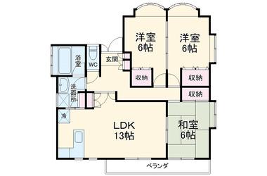 グランドール・ユー 3階 3LDK 賃貸アパート
