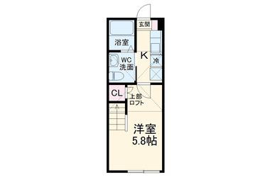 ブリック 1階 1R 賃貸アパート