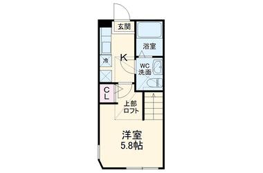 ブリック 2階 1R 賃貸アパート