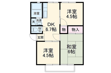 追浜 徒歩5分 2階 3DK 賃貸アパート