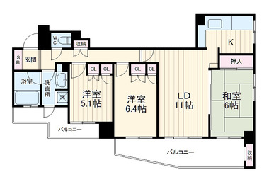 クリオ新横浜弐番館 10階 3LDK 賃貸マンション