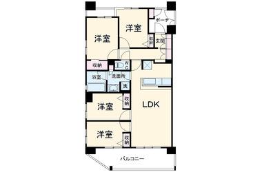千葉寺 徒歩11分 4階 4LDK 賃貸マンション