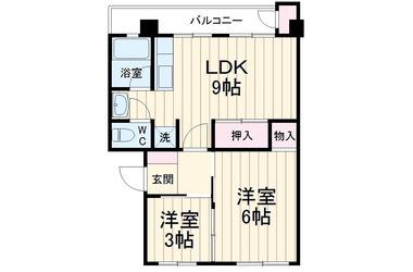 弁天レイクハイム1号館 4階 2DK 賃貸マンション