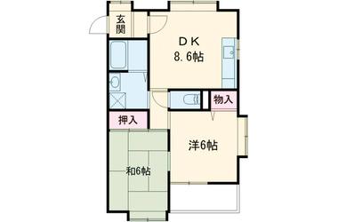 ビバグリーンヒル 1階 2DK 賃貸マンション
