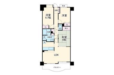パインズマンション君津イーストタワー 12階 3LDK 賃貸マンション