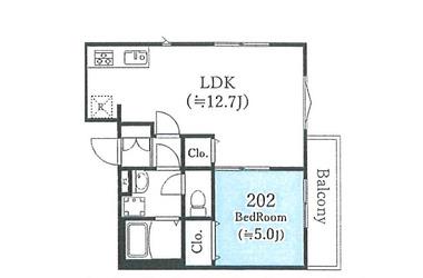 (仮称)杉並区永福3丁目計画 2階 2R 賃貸マンション