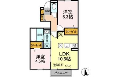 仮)D-room高野山 1階 2LDK 賃貸アパート