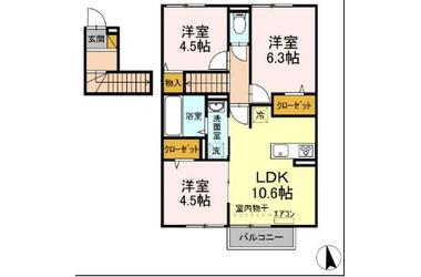 仮)D-room高野山 2階 3LDK 賃貸アパート