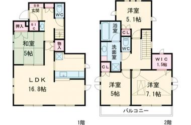 仙川 徒歩15分 1-2階 4LDK 賃貸一戸建て