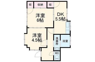 本鵠沼 徒歩12分 1階 2DK 賃貸一戸建て