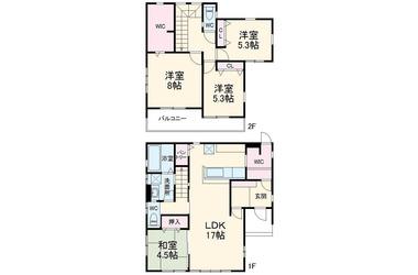 中原1丁目戸建 1-2階 4LDK 賃貸一戸建て