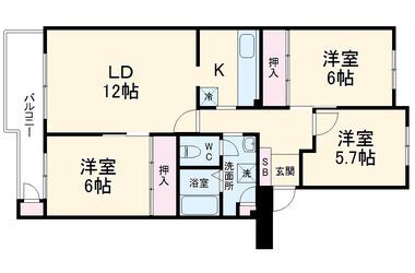津田沼グリーンハイツ10号棟 3階 3LDK 賃貸マンション