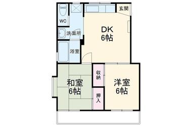 ケイ湘南Ⅱ 2階 2DK 賃貸アパート