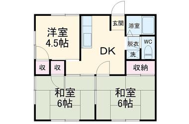 上総村上 徒歩36分 1階 2DK 賃貸一戸建て