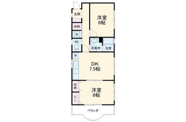 山手 徒歩44分 2階 2DK 賃貸マンション