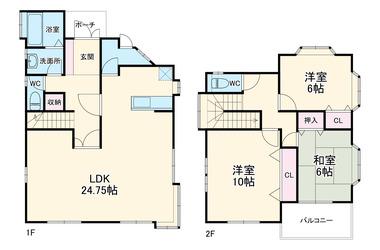 富士塚1丁目戸建 1-2階 3LDK 賃貸一戸建て