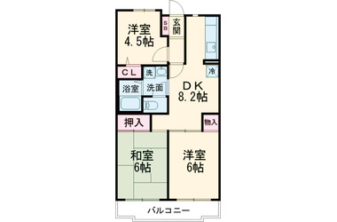 FS garden八幡山 2階 3DK 賃貸マンション