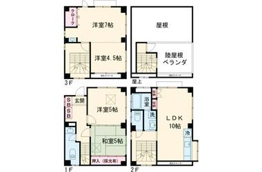 第30ベルハウス 3階 4LDK 賃貸一戸建て